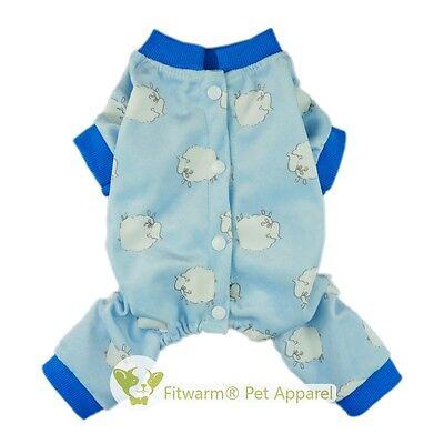 Fitwarm Boy Cotton Dog Clothes Soft Pet Shirt Pup Pajamas Jumpsuit XS S M XL