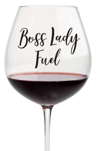 3 x patronne Vinyle Stickers Autocollant pour verre vin disponible en 24 Couleurs Cadeau