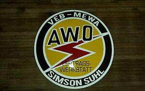 Simson-AWO-Reklameschild-Emalie-Werbung-Schild