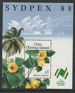 Cocos (Keeling) Islands Sc# 199 1988 Flowering Plants S-S Mint NH VF clGACunH-07165333-438313341
