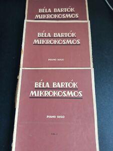 BELA BARTOK MIKROKOSMOS SPARTITO DA STUDIO piano solo VOL.1° 2° 3°