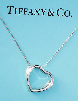 Tiffany & Co Sterling Silver Geometric Heart 18 Inch Necklace