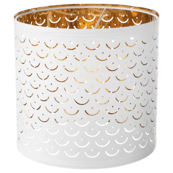 NymÖ Lamp Shade White Brass Colour, Large Drum Lamp Shade Ikea