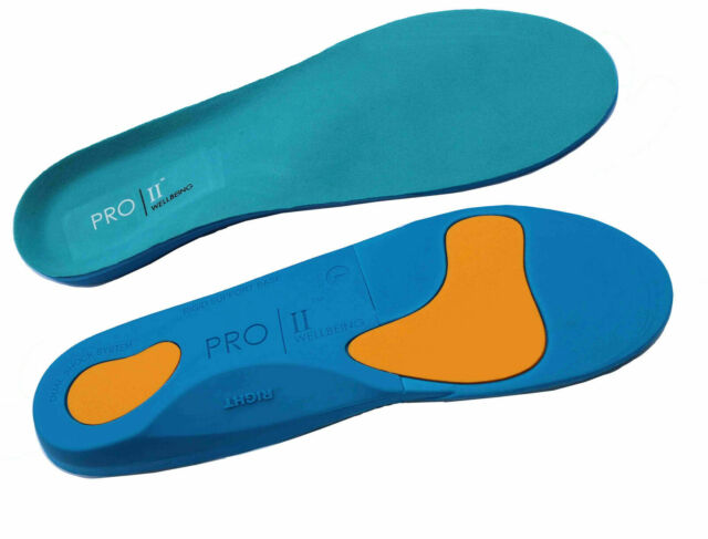 Metatarsal and Heel Cushion for Plantar Fasciitis Treatment PRO 11 WELLBEING Orthotic Insoles Full Length with Arch Supports