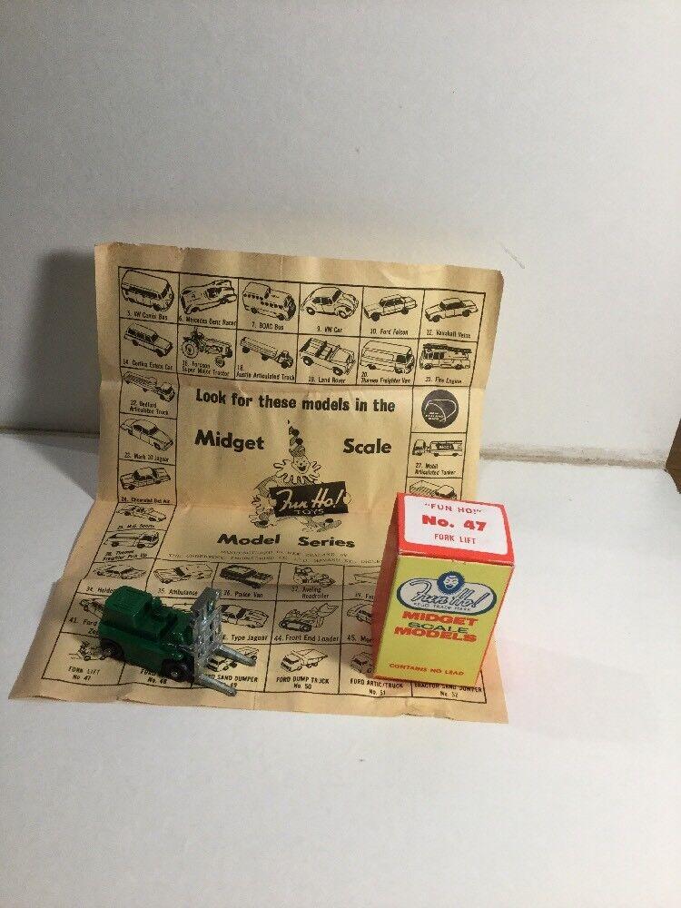 Vintage - spaß - ho - ho zwerg - modellen nr. 47 gabelstapler münze in box neuseeland aus