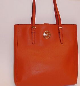 0ed0980db49b NEW MICHAEL KORS JET SET TRAVEL BURNT ORANGE SAFFIANO LEATHER TOTE ...