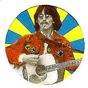 GEORGE-HARRISON-BADGE-BEATLES-60s-Pop