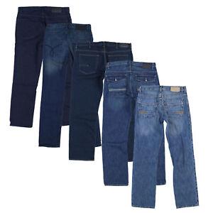 Calvin Klein Mens Jeans Straight Fit Denim Pants Bottoms Blue Black ... 6254d51aac