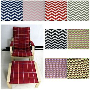 EASY FIT Slipcover NEW NO ZIPPER-Tailor Made For IKEA Poang Arm Chair Aa4