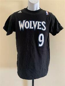 New Minnesota Timberwolves #9 Ricky Rubio Mens Size S-XL Black Adidas Shirt