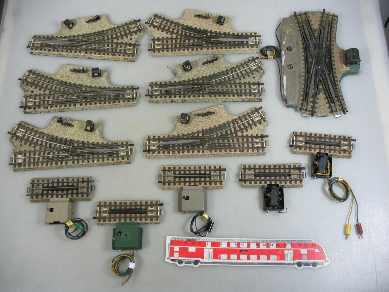 AN639-2x Märklin H0 00 AC Bastler-Teile (M-Gleis) f. 3600 800  DKW+EKS etc