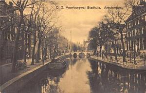 CPA-PAYS-BAS-AMSTERDAM-VOORBURGWAL-STADHUIS-AMSTERDAM