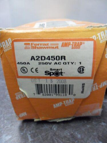 New Ferraz Shawmut A2D450R Fuse Class RK1 Smart Spot Bussmann LPN-RK-450sp