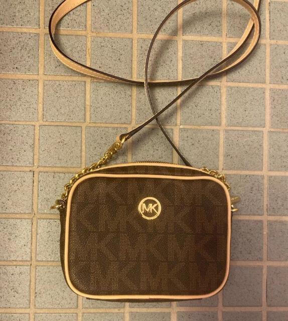 New Authentic Michael Kors Fulton Small Crossbody Bag Purse Handbag Brown