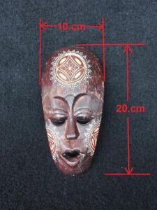 Vintage-African-Tribal-Aboriginal-wooden-hand-carved-Mask-Dot-Art-handmade-decor