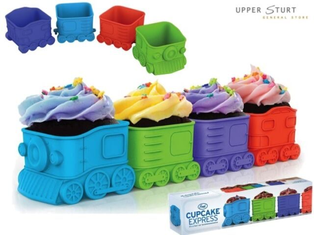 Fred® Cupcake Express Baking Cups 2 x 4 Packs Train FAST N FREE DELIVERY