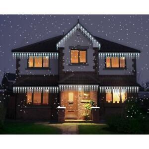 Detalles De Carámbano Nieve Luces Casa De Navidad Navidad Decoración Exterior Efecto De Hadas Fuera Ver Título Original
