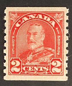 """Canadian Stamp, Scott #181 2c deep red """"King George V"""" 1930 XF M/NH"""