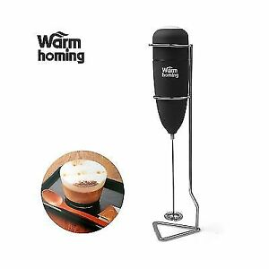 Milk Frother Electric Rubber Handheld With Stand Frothers Coffee Tea Makers Bar