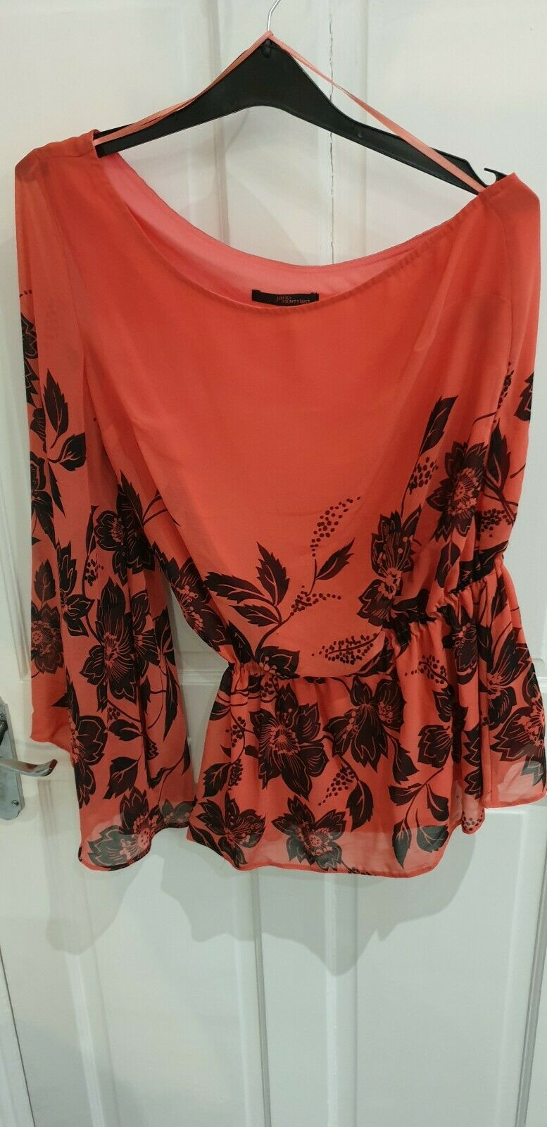 fdb90fa1dfcc Jane Norman 1 shoulder, bell sleeve floral top UK s10 blouse top 1 ...