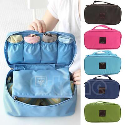 Portable Bra Case Travel Underwear Lingerie Waterproof Organizer Pouch Bag
