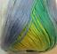 blanco Patrón azul mercerizado Baby Hilado de algodón 3ply Delphinium tonos verde