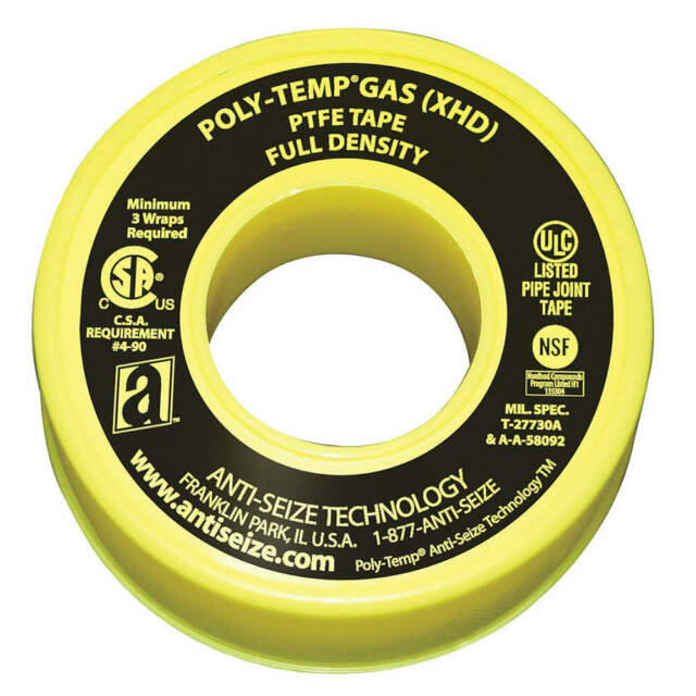 ANTI-SEIZE TECHNOLOGY 46335A Gas Line Sealant Tape,1/2 x 520 In
