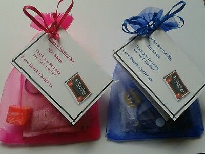 Personalised TEACHER Survival Kit Thank you Leaving Gift FREE NAMES ADDED