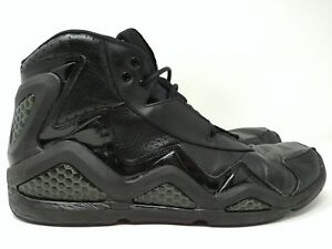 Reebok-High-Top-Leather-Basketball-Shoes-Size-12-Black-059503-911-Dragon-Scales