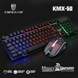 Rainbow-Backlight-llluminated-Gaming-Keyboard-and-Mouse-Wired-USB-PC-Laptop-Game