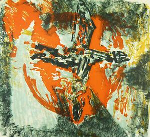 Jean-jacques Morvan (1928-2005) Abstrait 35 Ex. Né à Morlaix Bretagne Une Large SéLection De Couleurs Et De Dessins