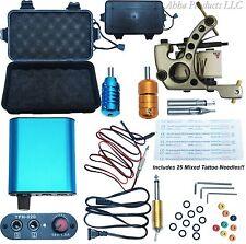 Tattoo Power Supply Gun Machine Grip Tip Needle Heavy Duty Case Wrench Set Kit