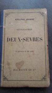 Geografia-Due-Sevres-A-Joanne-1873-Hachette-Parigi-14-Stampe-Senza-Carte