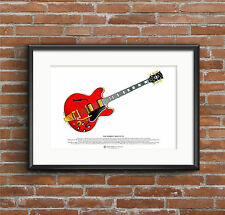 Noel Gallagher's 1960's Gibson ES-355 ART POSTER A3 size
