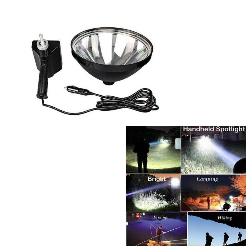 AC 12V HID 100W 9in Handheld Camping Spotlight Hunting Search Camping Lighting