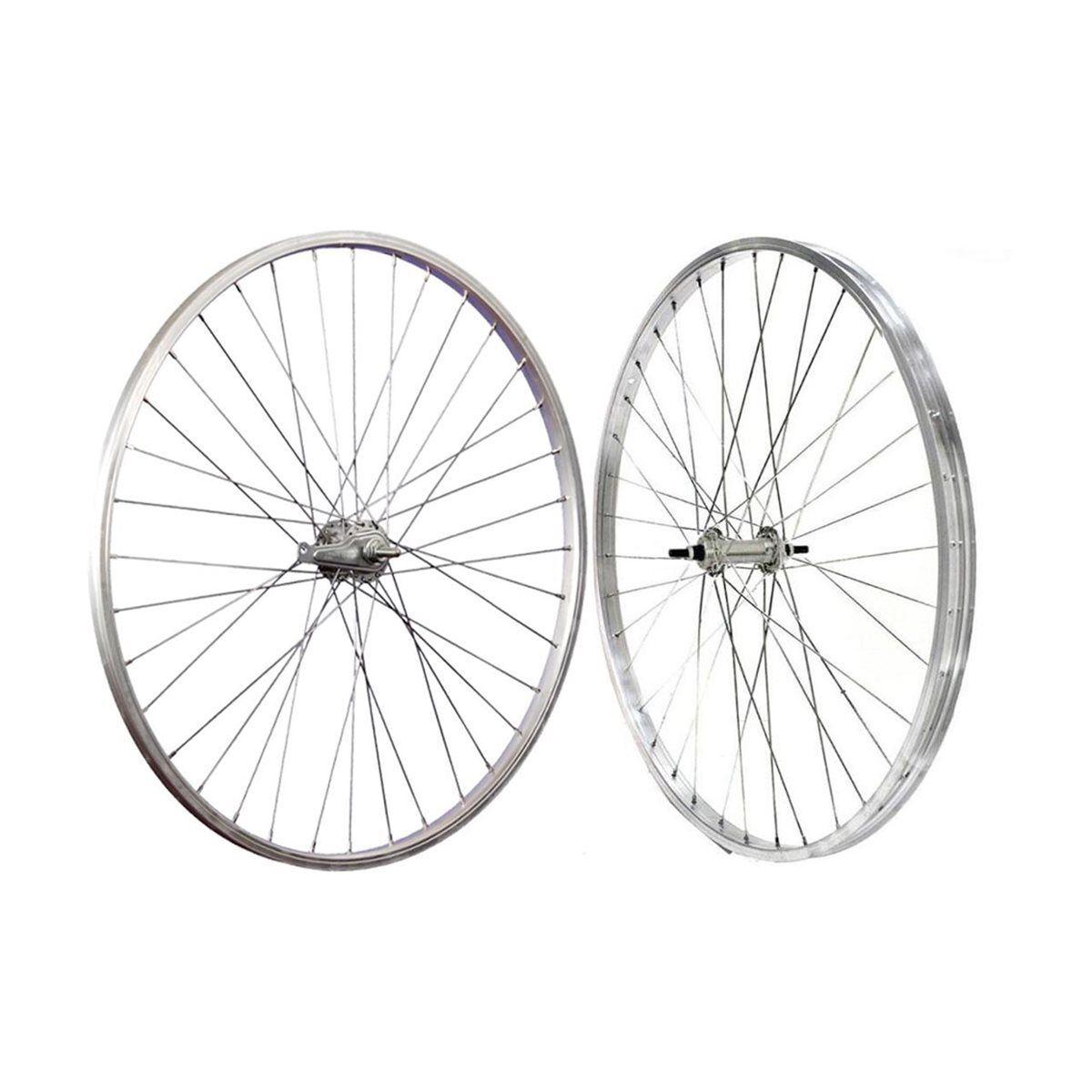 Paire roues city hollande 26  x 1-3 8 frein à rétropédalage silver CNT2638S  exclusive designs