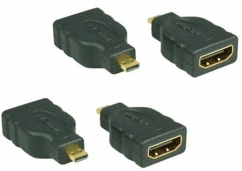 4x HDMI-HDMI micro Adapter mit EthernetTyp A auf Typ D4K x 2K # 4 Stück