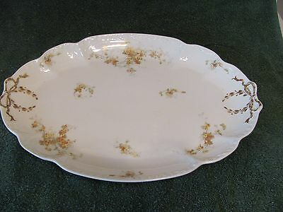 CH FIELD HAVILAND LIMOGES FINE CHINA OVAL 15 3/4 INCH PLATTER YELLOW FLOWERS