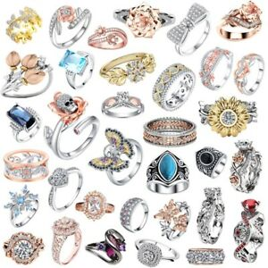 Fashion-Jewelry-925-Silver-Girl-Lady-Brand-Women-Anelli-Wedding-Ring-Engagement