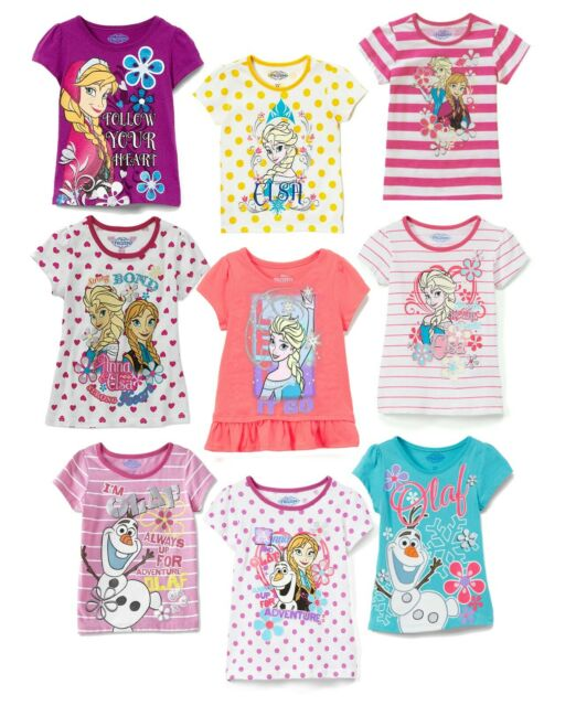 Disney Frozen Little Girls Frozen Girls Short Sleeve Tee Shirt