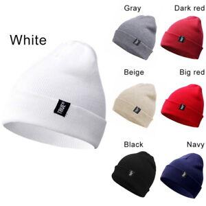 Femme-Homme-Winter-Hiver-Beanie-Bonnet-Acrylique-Chapeau-tricot-Chaud-Ski-Cap