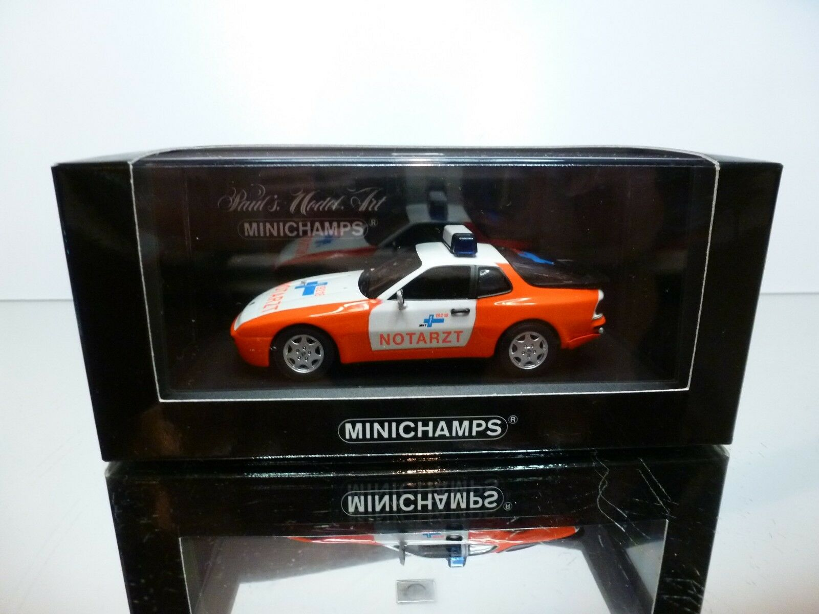 MINICHAMPS 62290 PORSCHE 944 S2 1995 NOTARZT - PROMO 1 43 - EXCELLENT IN BOX