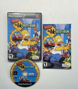 The-Simpsons-Hit-amp-Run-PlayStation-2-2003-Black-Label-COMPLETE