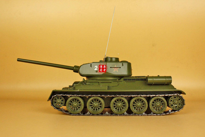 1 24 T34 main battle tank(34cm12.5cm22cm Includes barrel and antenna)