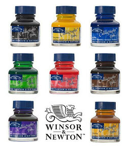Winsor-amp-Newton-Calligraphy-Art-amp-Lettering-Ink-30ml-14-Colours-Available