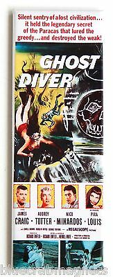 Ghost Diver FRIDGE MAGNET (1.5 x 4.5 inches) insert movie poster scuba woman