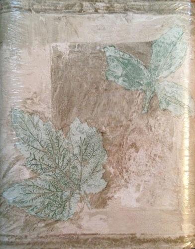 NEW VILLAGE LEAF WALLPAPER BORDER Tan Gold Beige Green Leaves 5 yd #375803241