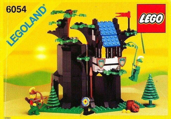 Lego 6054 Forest Man's Hideout Vintage set 100% COMPLETE Boxed Instructions