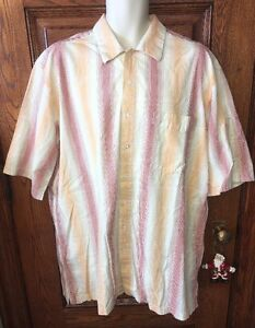 17bf7368a20 OUTBACK TRAIL by FOX FIRE Striped Short Sleeve 100% Cotton SHIRT, XL ...
