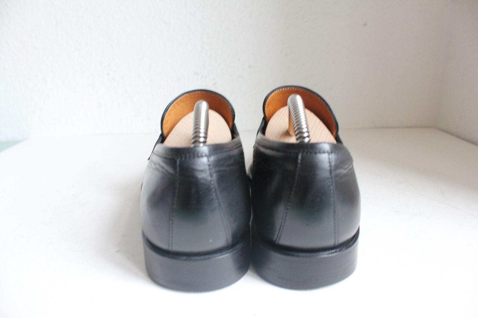 PRIME PRIME PRIME Schuhe Elegante Luxus Slipper Herenschuhe Voll Echtleder Schwarz Eu:43 f1e5a7